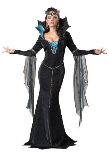 California Costumes Dunkle Magierin Hexe Zauberin Halloween Damenkostüm schwarz-blau L (42/44)