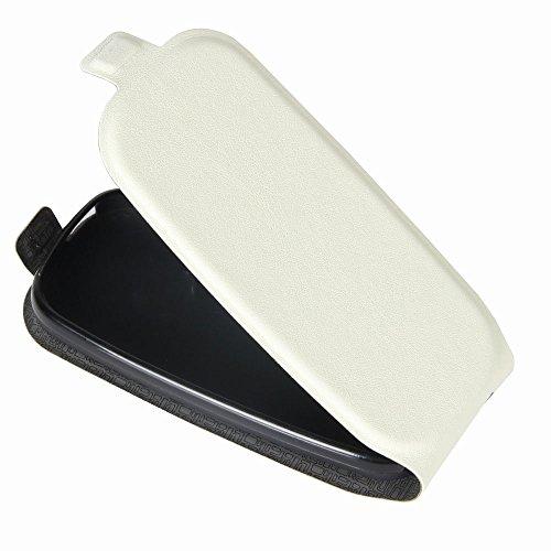 Custodia per Nokia 105 (2017), 95street Custodia Portafoglio in pu Pelle, Portafoglio Cover con Porta Carte, Funzione Stand, Chiusura Magnetica Per Nokia 105 (2017),Bianca