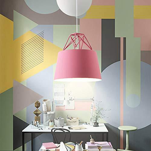 DKee Luz de Techo LED Macarons Lámpara De Techo Luz Blanca Aluminio Araña Comedor Sala De Estar Estudio Dormitorio Simple Moderno Azul Rosa Amarillo (Color : Pink)