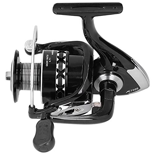 Voluxe Carrete de pesca, brazo de metal Spinning carrete para la pesca para el ser humano (X7000 mango de plástico)