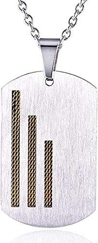 Yiffshunl Collar Clásico Moda Personalidad Hombres Mujeres Moderno Pop Personalidad Personalidad Simple Acero Inoxidable Colgante Collar