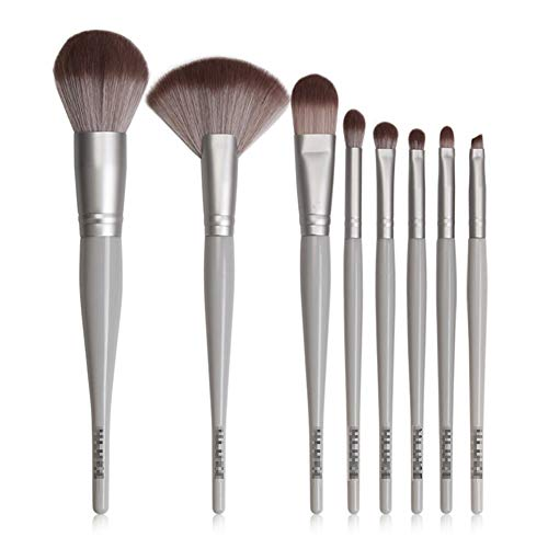 Pinceau De Maquillage 8 Pièces En Bois Poignée En Nylon Laine Maquillage Du Visage Outil Débutant Maquillage Pratique Beauté Pinceau,1