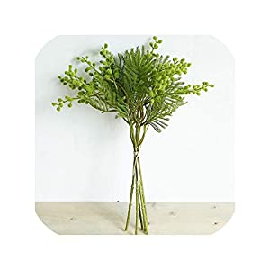 Artificial Flowers Mimosa Bouquet Fuzzy Simulation Planting DIY Wedding Home Decor Plant Wreaths Flowers