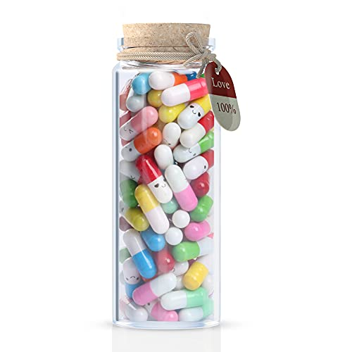 Formemory Capsule Letters Message in a Bottle Happy Pills Message Notes Cute Valentines Day Gifts...