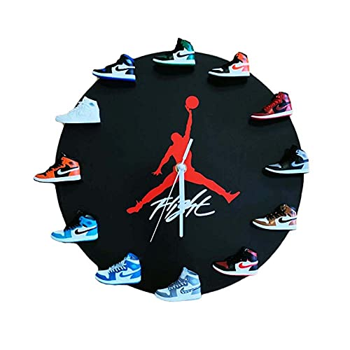 3D Mini Basketball Schuh Wanduhr, Retro Sneakers Style Dekoration Für Einzigartige Geschenke, Die Auf Jedem Verwendet Werden Können,A