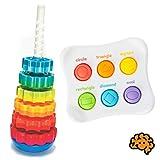 Fat Brain Toys SpinAgain & Dimpl Duo Toddler Bundle