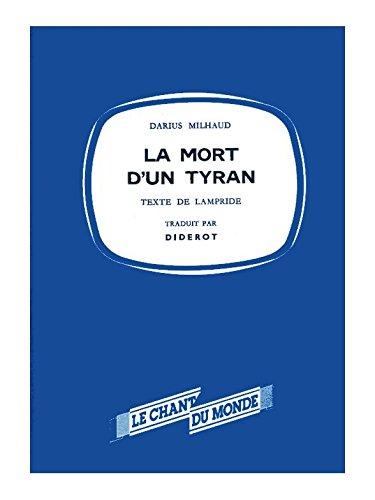 Darius Milhaud: La Mort D'Un Tyran (puntuación en miniatura) - Hoja de música
