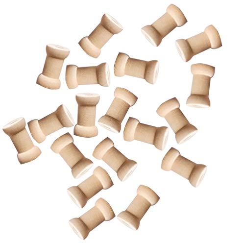 SUPVOX carretes de hilo vacíos de tejido natural de coser madera hilo...
