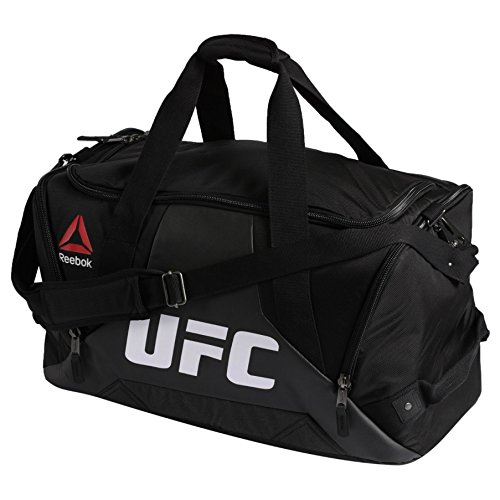 Reebok Combat Grip UFC Fitness & Training Duffle Sport Bag in Black White Red Yellow