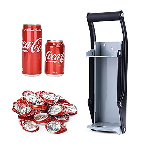 Aplastador de Latas Prensa Latas de 16 oz 500ml, Rompe Latas y Abridor de Botellas 2 en 1 Independientes, Herramienta de Reciclaje de Cocina para Latas de Cerveza Latas de Refresco de Hasta