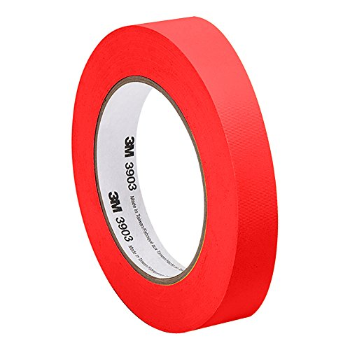 3M - 0.5-50-3903-RED 3903 Vinyl Duct Tape - 0.5 in. x 150 ft. Conformable Adhesive Tape Roll - Red Rubber Adhesive Tape with Abrasion Resistance. Sealing Tapes