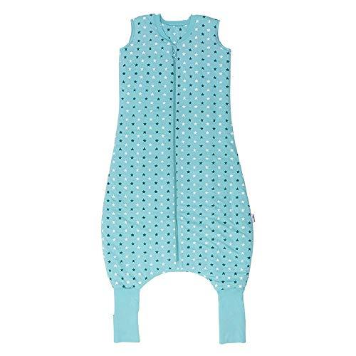 Schlummersack Schlafsack mit Füßen Vierjahreszeiten in 2.5 Tog - Teal Stars - 110 cm