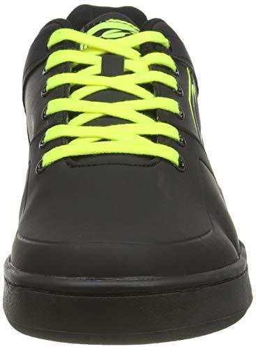 O'NEAL | Zapatillas de Bicicleta | MTB Downhill Freeride | Equilibrio Entre Agarre y posición del pie, Suela de Panal | Zapato de Pedal Plano con Clavos | Adultos | Negro Neón Amarillo | Talla 43