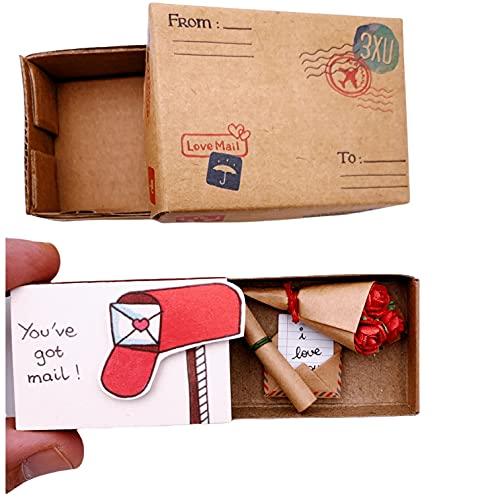 immi Mini Überraschung Streichholzschachtel Rosen Geschenk (Liebe/Post)