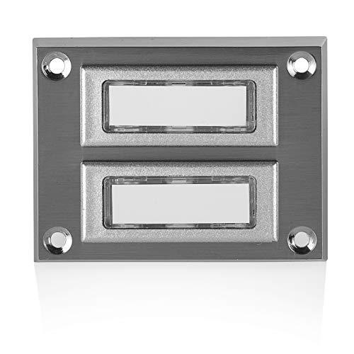 Byron 3333BS/2 Verdrahteter doppelter Universal-Klingeltaster in Chrom-Ausführung mit beschreibbarem Namensschild
