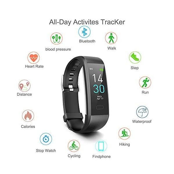 Pulsera de Actividad, Inteligente Reloj Deportivo, IP68 para Hombre Mujer con GPS Monitor de Sueño Podómetro Contador… 3