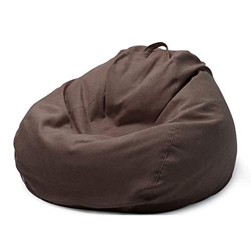 ZZX Sitzsack Hülle Bezug, Premium Riesen-Sitzsack-Hülle Sitzsack Außenbezug ideal für Jugendliche und Erwachsene, ohne Füllung,Braun,XXL