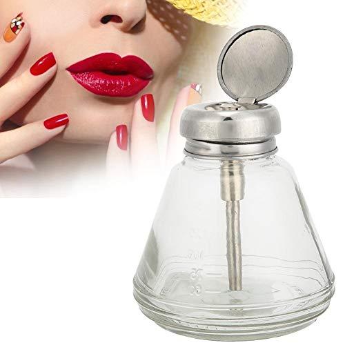 150 ml Vide Pompe Distributeur Bouteille Transparent Liquide Récipient pour Nail Art Polonais Acrylique Liquide Vernis À Ongles Gel Polonais Nail Art Remover Pressant Bouteille Accessoires(Pompe)