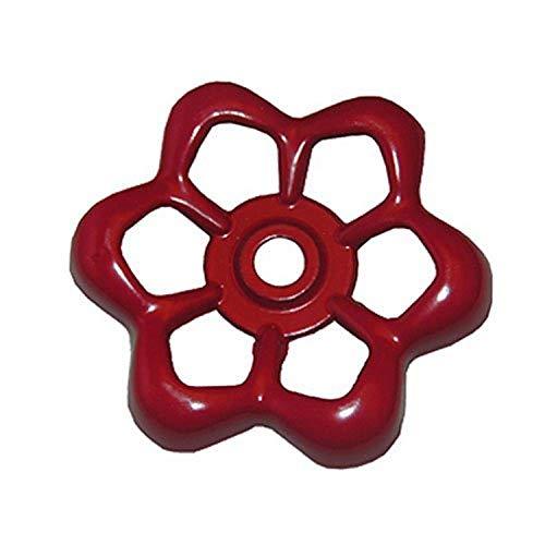 LASCO 01-5105 Metal Outside Faucet Hose Bibb Round Wheel Handle, 16 Point Broach (1/2 inch diameter)