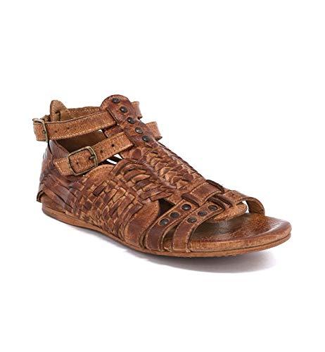 Bed|Stu Women's Claire Leather Sandal (8 M US, Tan Dip Dye)