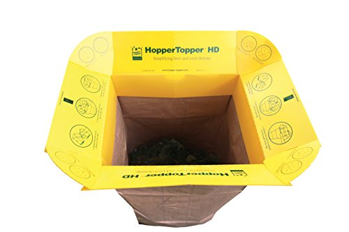 HopperTopper HD HTOPP001 Plastic Lawn and Leaf Bag Funnel