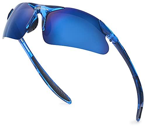 Xagger Youth Polarized Sports Sunglasses for Boys Girls Age 8-16 Kids Teens Lightweight Baseball Softball Cycling Running Glasses