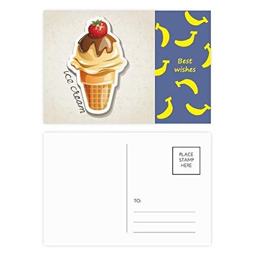 DIYthinker Fresa del chocolate dulce del cono de helado de plátano tarjetas...