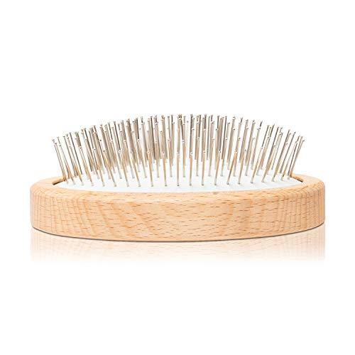 ruhi® Haarbürste ohne Ziepen [NEU]| Entwirrungsbürste ohne Plastik | Entwirrbürste Detangler Bürste aus Holz | Detangling Brush vegan & handgemacht in DE