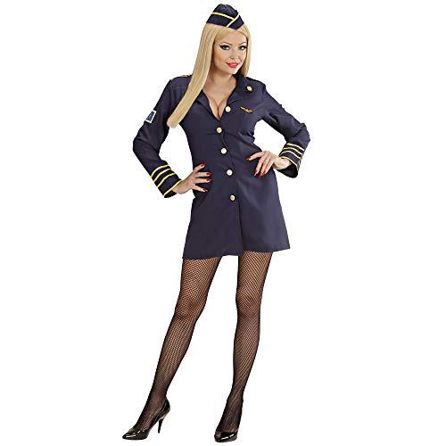 Widmann 44569 - Disfraz de azafata de vuelo para adultos, talla 34 , Modelos/colores Surtidos, 1 Unidad