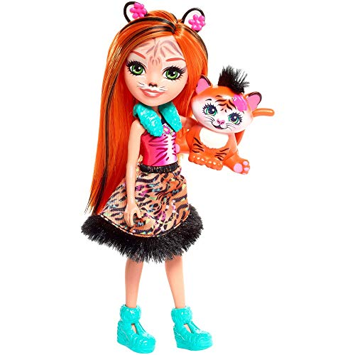 Enchantimals FRH39 - Tigermädchen Tanzie Tiger Puppe