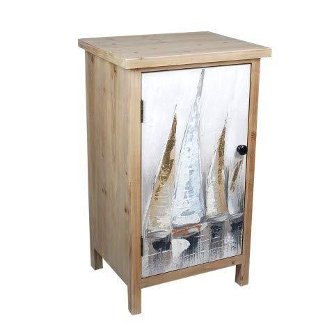 ARTDECO Schränkchen mit 1 Tür SEGELSCHIFFE, Holz, 77 cm