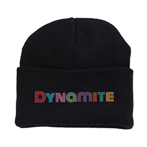 Yhrhredfjh Leotiee Kpop BTS Dynamite Lässige Beanies Mode Strickmütze Wintermütze Solid Color Hip Hop Stretchy Skull Hat Bonnet Unisex Cap Fans Geschenk
