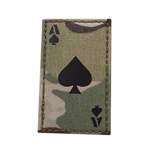 IR Multicam Ace of Spades Death Dead Card 2x3.5 Morale Tactical Hook-and-Loop Patch
