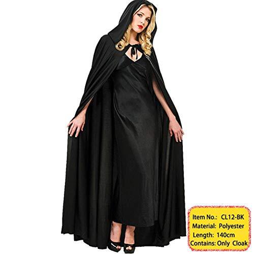 SHOUSBOXHI Volwassen Kostuums - Halloween Kostuums voor Mannen en Vrouwen Vampier Capes Hooded Cloak,CL12-BK