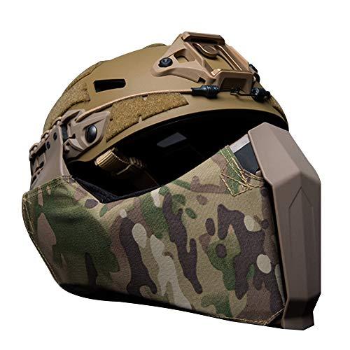 JYNQR Gunsight Mandible Taktischer Halbe Gesichtsmaske Highcut Helm Seitliche Führungsschiene, Tactical Gang Gesichtsschutz Airsoft Jagd Militärausrüstung,Cp