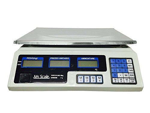 BILANCIA ELETTRONICA DIGITALE PROFESSIONALE MIN 5 GR MAX 40 KG DIVISIONE 2 GR