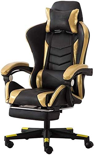 Reception Chairs Computer Chair High Back Racing Chair with Massage Function Ergonomic Office Desk Chair Height Adjustable Racing Gaming Chair with Headrest and Lumbar Support Athletic Chair