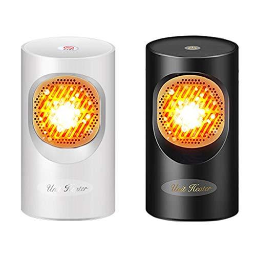Calefactor Eléctrico, 300W Mini Calentador de Ventilador, Ventilador de calefacción de Escritorio Hogar Calentador de Moda, Calentador de Escritorio Portátil