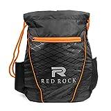 Red Rock Drawstring Bag Trendy 5 L Multipurpose Unisex Drawstring Bag Black & Orange with Bottle Pocket
