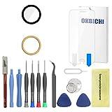 OKBICHI Lente de la cámara trasera de repuesto para iPhone 6 y iPhone 6S - Herramientas de reparación con protector de pantalla