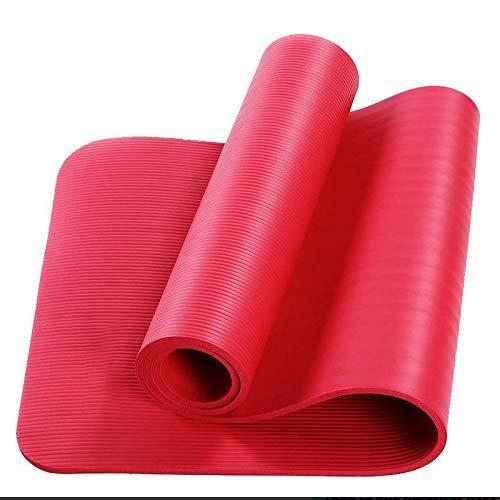 WANGQI Esterilla de yoga – Esterilla de fitness antideslizante – Esterilla de gimnasia para ejercicios – Esterilla de entrenamiento de TPE de alta calidad sin ftalatos – Dimensiones: 183 x 61 x 1 cm