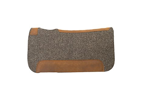 Weaver Leather All Natural 100% Wool Felt Pony Saddle Pad, Gray , 25 x 26