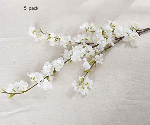 Sarazong Fleur Artificielle de Fleur de pêcher, Décoration Fausse Fleur Composition Florale Salon Ameublement Faux Fleur Fleur Artificielle Fleur éternelle,B