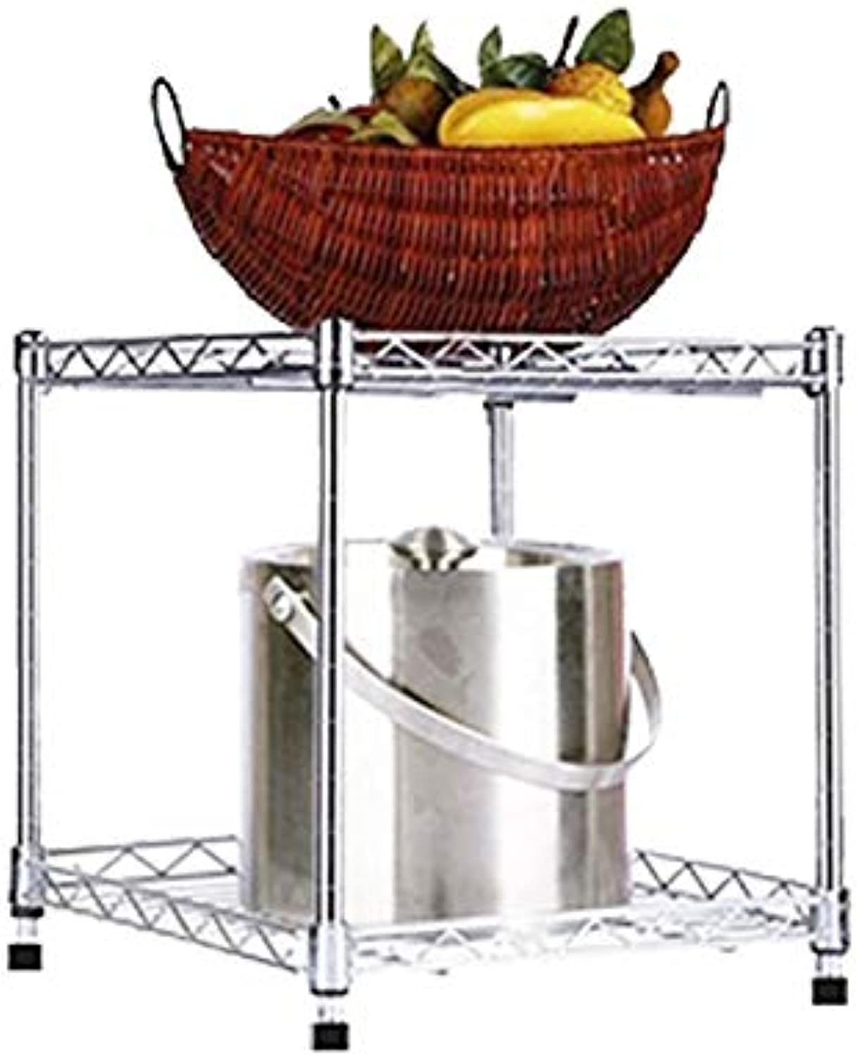 Chuen Lung Kitchen 304 Stainless Steel Cutlery Storage Multi-Layer Shelf, Height Adjustable, with Fixing Hardware,Multi-Size Selection (color   Double Layer, Size   60×15×45CM)