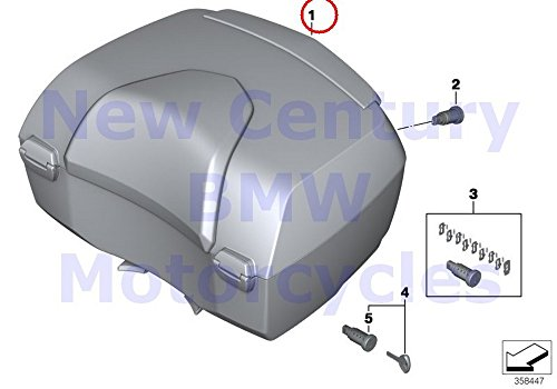 Great Deal! BMW Genuine Motorcycle Top Case Topcase White Aluminum R1200RT