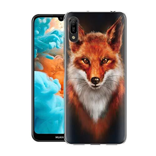 Yoedge Huawei Y6 Pro 2019 Hülle, TPU Silikon Transparent Schutzhülle Handyhülle mit Muster Motiv Hülle Superdünn Stoßfest 360 Grad Bumper Weiche Cover für Huawei Y6 Pro 2019 6,09