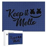 マシュメロ Marshmello Keep It MELLO 300ピースのパズル木製パズル大人の贈り物子供の誕生日プレゼント