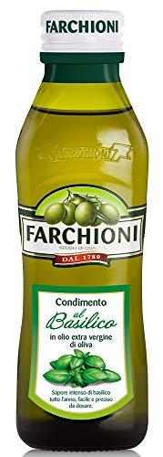 Farchioni - Basilikum Olivenöl (250 ml) - Extra Natives Olivenöl - Basilikum Essenz - Glasflasche (250 ml)