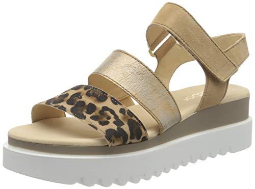 Gabor Shoes Gabor Casual, Sandalia con Pulsera Mujer, Beige (Natur/Desert 38), 37 EU