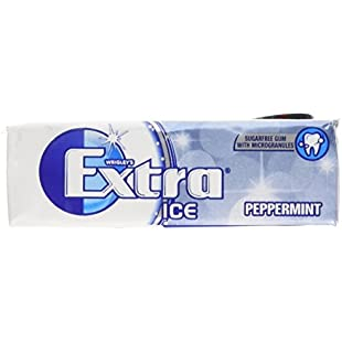 Wrigley's Extra Ice Peppermint Sugarfree Gum with Microgranules 10 Pieces x 30